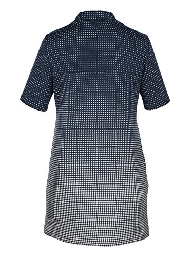 Damen Longshirt mit Farbverlauf by MIAMODA Marine/Weiß