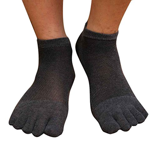 Fighting 1 Paar Männer beiläufige Ineinander Greifen Socken Soft Cotton Breathable Sportsocken Fünf Zehe (Soft Deodorant)
