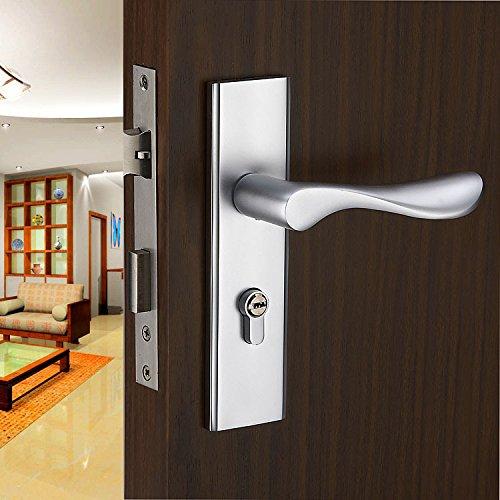 VanMe Einfache Europäischem Raum Türschlösser Aluminium Innen Schlafzimmer Holztüren Mit Soliden Mechanischen Schlössern Weiße Zimmertür