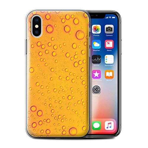 Stuff4 Gel TPU Hülle / Case für Apple iPhone X/10 / Orange/Gelb Muster / Wassertropfen Kollektion Orange/Gelb