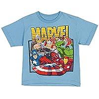 Marvel Comics Avengers Cluster Little Boys Juvy T-shirt - Light Blue (Small (4))