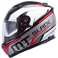 MT Blade-Casco para Moto Integral SV Super R-Double Pantalla, Color Negro