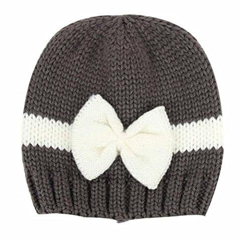 WalshK Nouveau-Né BéBé Fille GarçOn Enfant En Bas âGe Tricot En Laine Chapeau En Crochet Chapeau Souple (Taille Unique, Gris foncé)