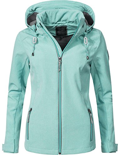Peak Time Damen Übergangs-Jacke Softshell-Jacke L60022 Petrol Gr. - Frauen Mantel Peak