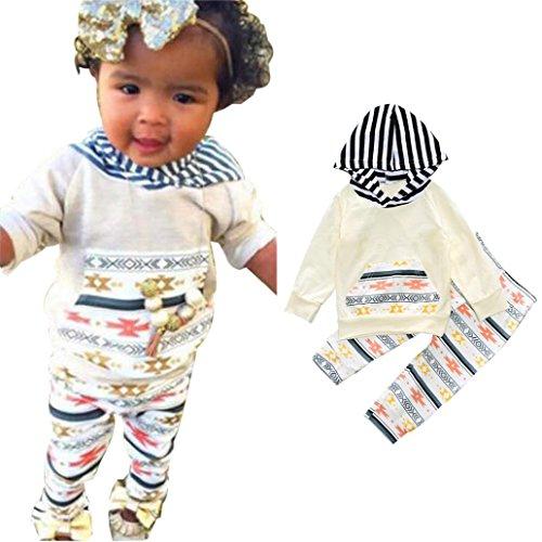 Culater® I bambini delle ragazze dei neonati Aztec con cappuccio Top Pantaloni Felpa Outfits vestiti regolati (18M)