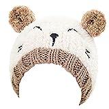 sunnymi Neugeborene Baby Mütze Set Warmer Hut Babymütze Winter Verdickte Kappe (Gestrickte 20 * 18cm (1-3 Jahre), Beige)