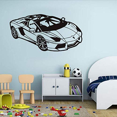 Wymw Lamborghini Vinilo De Coche Etiqueta De La Pared Para Niños Sala De Deportes Carreras De Automóviles Arte Tatuajes De Arte Dormitorio Sala De Estar Decoración Del Hogar 42 * 81 Cm