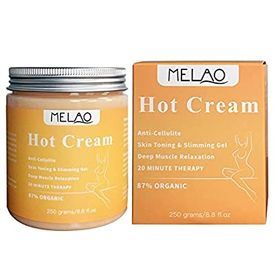 Massage Cream The Professional Slimming Cream Fast Fat Burner 100% Natural Organic - Best Anti Cellulite Cream Great for Muscle Relaxation by MELAO
