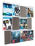 Design Blu-ray-Wand / BluRay Wanddisplay / Blu-ray Wandregal / Blu-ray Wandhalter / Blu-ray Halter - CD-Wall Square 4x3 für 12Blu-rays zur sichtbaren Präsentation Ihrer Lieblings Blu-ray Cover an der Wand