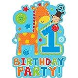 Wild at One Boy 's ersten Geburtstag Einladungen & Umschläge