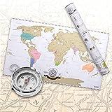 Scratch Off World Map- Mappa del mondo da grattare via Deluxe XXL - edizione italiana