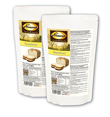 Dr. Almond Paleo Backmischung TOASTBROT low-carb glutenfrei sojafrei (2er Pack)