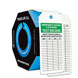 Accuform Signs TAR738 Tags By-The-Roll Inspection and Status Tags, Legend