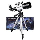 SVBONY SV15 Refractor Telescope 70/300 mit Stativ für Einsteiger, Amateur-Astronomen und...