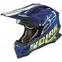Nolan N53 Whoop MX 2018 - Casco de motocross (tamaño grande), color azul vaquero