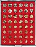 Münzenbox mit 48 Vertiefungen für 6 Euro-Kursmünzensätze [Lindner 2506]