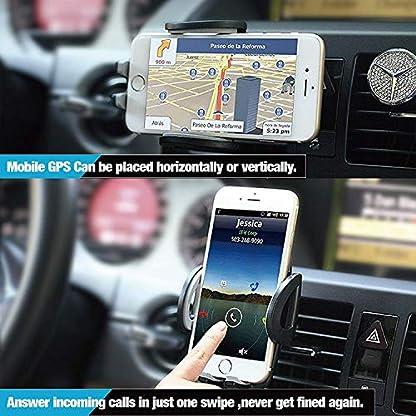 IZUKU-Handyhalter-frs-Auto-Handyhalterung-Auto-2-St-Klammer-Smartphone-Halterung-KFZ-Kratzschutz-mit-einer-2-Klammer-fr-die-Lftung-Handyhalterung-Auto-Lftung-Universal-fr-iPhoneSamsungSonyHuawei