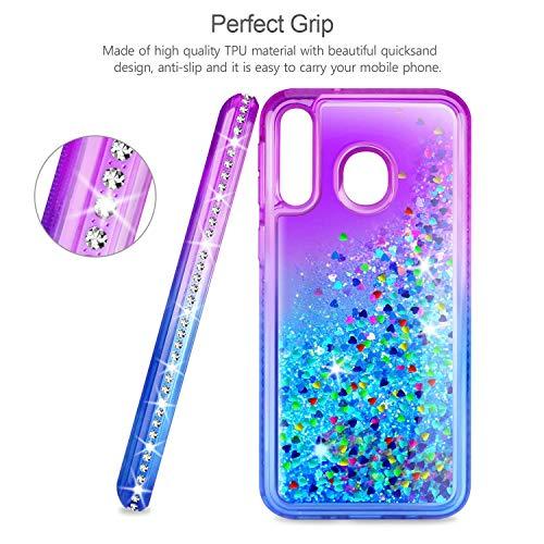 AROYI Coque Samsung Galaxy Note 10 Pro + 2 X écran Protecteur, Fille Personnalisé Liquide Paillette Dégradé Transparente Silicone TPU...