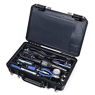 YIHUA 8858-I &928D Portable Hot Air Gun and 65W Constant Temperature Soldering Iron with LED Digital Display, Sleep Function, Digital Temp. Correction Function, Desoldering and Soldering Iron Set