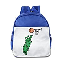 NATY Cute Frog Playing Basketball School Backpacks With RoyalBlue For Youth