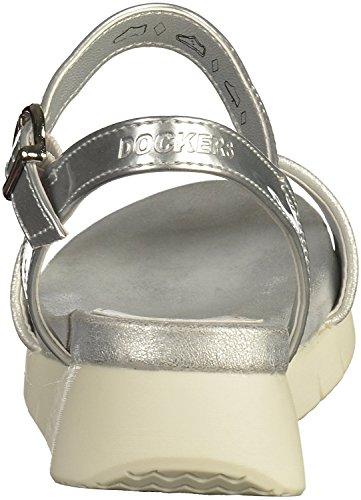 Dockers by Gerli Damen 40kr204-620300 Knöchelriemchen Silber
