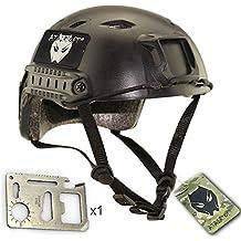 Worldshopping4U casco de Airsoft SWAT, BJ, de DE/FG/OD, negro