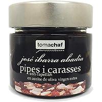 Pipes i carasses con capellán con aceite de oliva 200g.