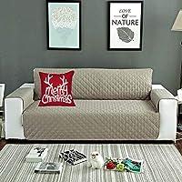 laamei Cubre para Sofá de 3 Plazas con Reposabrazos Antideslizante Protector para Sofás Muebles Acolchado contra Mascotas, Polvo y Manchas(Beige,190x196cm)