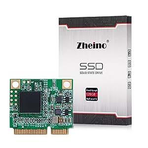 Zheino Half Size mSATA 128Go SATAIII SSD Half mSATA Disque Dur 128GB Mini Solid State Drive Pour Ordinateur Portable 26.8mm (L) * 30.1mm (W) * 3,5 mm (H)
