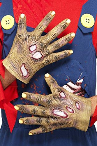 Decaying Zombie Latex Gloves Man Hallowen Fancy Dress