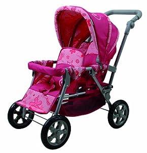 Knorrtoys.com 16607 Big Twin Princess - Cochecito Doble, Color Rosa