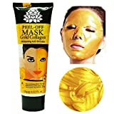 24K Gold Collagen Gesichtsmaske hohe Feuchtigkeit Anti-Aging entfernen Falten Pflege