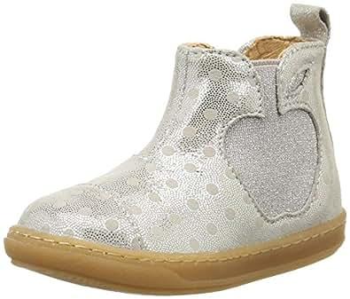 Shoo Pom Bouba Apple, Chaussures Premiers pas bébé fille, Argent (Dots Silver), 24 EU