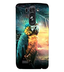 ColourCraft Beautiful Parrot Design Back Case Cover for LG G3 S