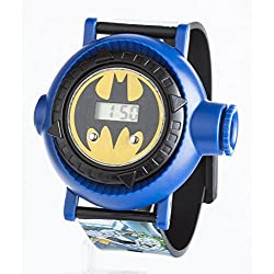 Batman Children's Digital Display Watch with Yellow Dial and Blue Plastic Strap BAT13DC
