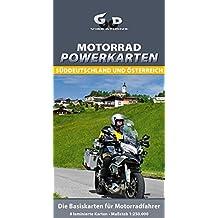 Motorrad Powerkarten Süddeutschland und Österreich: Wasserfeste Landkarten für Motorradfahrer