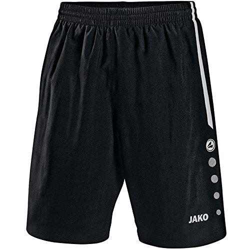 JAKO Herren Fußball Sporthose Turin, Schwarz/Weiß, M, 4462