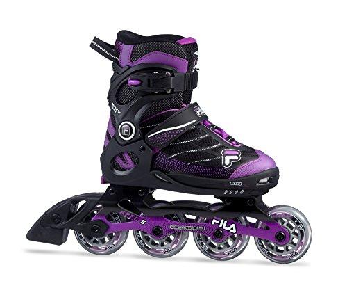 Fila Mädchen Wizy Alu Girl Inline Skate, schwarz/Magenta, 35-38 -