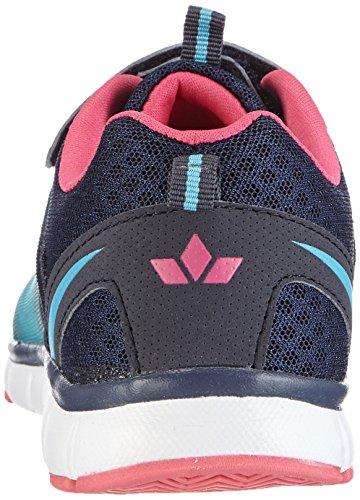 Lico Flow Vs, Baskets Basses Fille Bleu - Blau (marine/tuerkis/pink)
