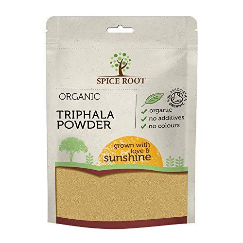 Polvere di Triphala Biologica 200g (Bio Triphala Powder) - Certificato Biologico, Qualità Premium | Vegan | Superfood | Eccellente per la digestione | Detox
