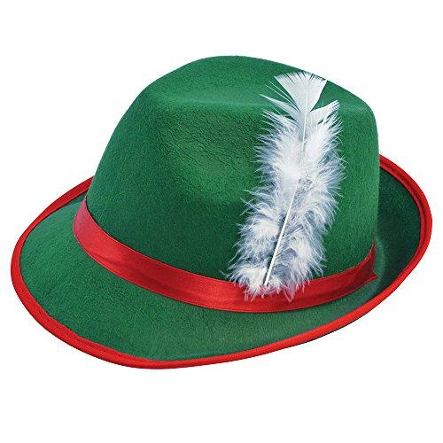 7Tiroler Filz Hat, One Size (Tiroler Kostüm)