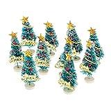 Baoblaze Lot de 10 Sapin de Noel Artificiel Mini Arbre de Noël Miniature (Hauteur 8cm) - # 2