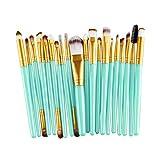 TTLOVE 20 StüCk Make-Up Pinsel Set Werkzeuge Professionelle Makeup Pinselset AnzüGe FüR Berufsverfassungs Oder Ausgangsgebrauch Mit Aufbewahrungstasche (Gold)