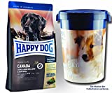 2 x 12,5 kg + Futtertonne 43 Liter Happy Dog Supreme Sensible Canada