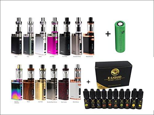 Starterset Eleaf iStick Pico TC 75 Watt + 10x10ml Set E-Shisha E Zigarette E-Liquid Aroma Liquid Tabak 0mg Nikotin / MELO 3 Verdampfer 4ml Komplettset + Sony Akku (Full Black)