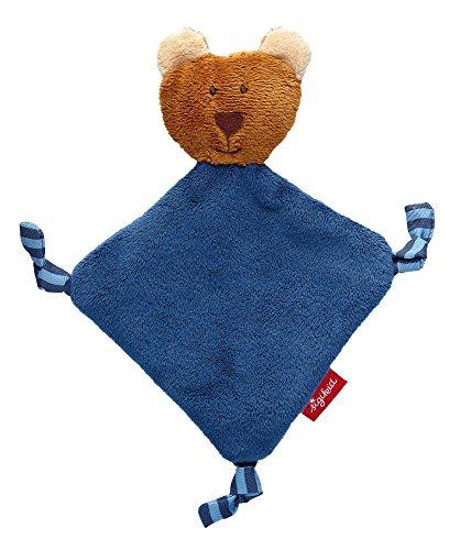 sigikid, Jungen, Mini-Schnuffeltuch Bär, Newborn, Blau, 41290