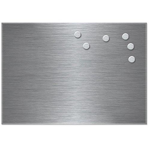 afel - Memotafel - Magnettafel Edelstahl 35x50cm (Magnettafel Edelstahl)