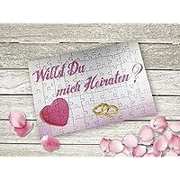 Origineller Heiratsantrag Puzzle Herz