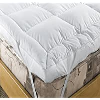 "EXTRA DEEP 5"" (12.5 cm) LUXURY Duck Feather and 15% Down Mattress Topper , DOUBLE Bed Size By Viceroybedding"