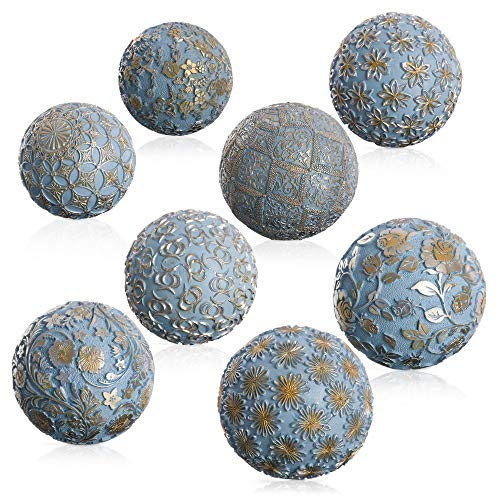 Romantic Blue Decorative Resin Balls for decoration France - LOLAhome